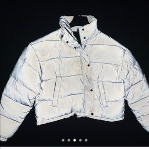 Jackets & Blazers - Reflective Cropped Bubble Coat